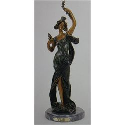 """Rose Girl"" Bronze Sculpture - Bauche"