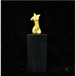 Dali   Gold Plated Bronze Sculpture- Female Bust