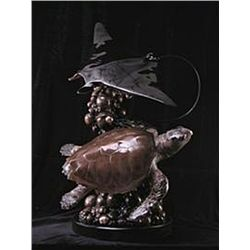 Bronze Sculpture - Majestic Turtle and Ray by Matthews