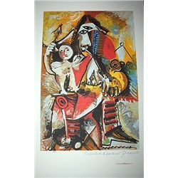Limited Edition Picasso - Child On Man's Lap - Collection Domaine Picasso