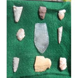 Arizona Arrowheads with Quartz Clovis
