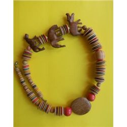 Necklace African Wood Effigy Necklace from Kenya
