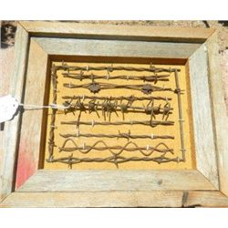 Frame of Antique Barbed Wire