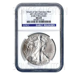 Certified Uncirculated Silver Eagle 2011(S) (San Franci