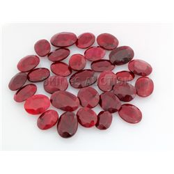 128.00ctw Ruby Mix Shape&Sizes LooseGemstone