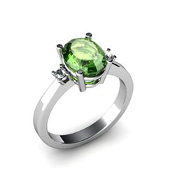Tourmaline 2.30 ctw Diamond Ring 14kt White Gold