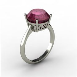 Ruby 4.50 ctw Ring14kt White Gold