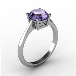 Tanzanite 1.55 ctw Ring 14kt White Gold