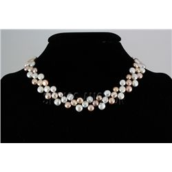 "221.07CTW 12"" WHITE-PEACH-LAVENDER SIOPAO NECKLACE META"