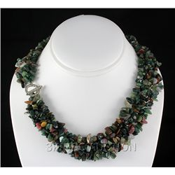 "771.5CTW 18"" TOURMALINE CHIPPED STONE NECKLACE METAL LO"