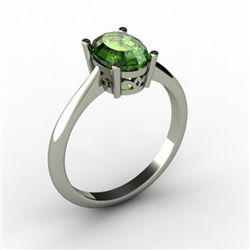 Tourmaline 1.18 ctw Ring 14kt White Gold