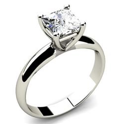0.25 ct Princess cut Diamond Solitaire Ring, I-K, SI-I
