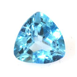 Natural 3.28ctw Blue Topaz Trllion Cut 9x9 Stone