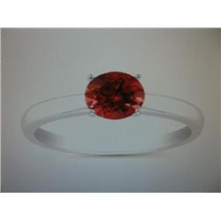 Genuine 1.06 carat Ruby 14 k white gold ring