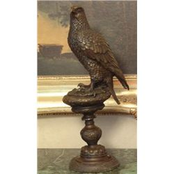 Excellent Bronze Sculpture Falcon