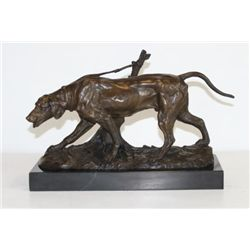 Magnificent Bronze Sculpture Coon Hound