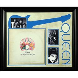 Queen Night at the Opera Vint Record Album Custom Frame