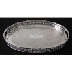 Kentshire Sheffield Silver Plated Serving Gallery Tray