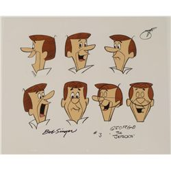 George Jetson Signed Original Model Cel Animation Art