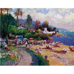 Caribbean Beach by Carla Ponti 24x30 Giclee Signed