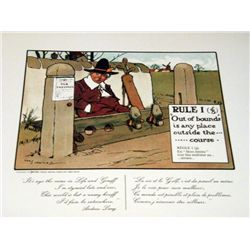 Perrier Golf Rule 1 Lithograph Print