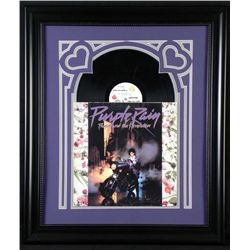 Prince Purple Rain Vintage Record Album in Custom Frame