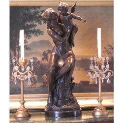 Angelic Bronze Mother & Angel 55 lbs