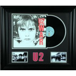 U2 War Vintage Record Album in Custom Frame