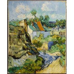 Houses in Auvers Vincent Van Gogh Art Print On Canvas