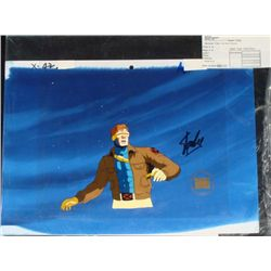 Animation Original Stan Lee Background Signed Cel X-MEN