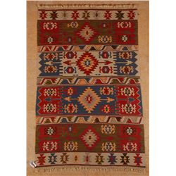 Denizli, Kilim, West Turkey, 100% handspun wool, mixed with 10% aƒ