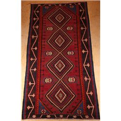 Antique, Russian, woven on cotton foundation, circa 1910, 100% haƒ