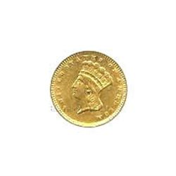 $1 Liberty Gold type 3 Extra Fine to AU Early Gold Bull