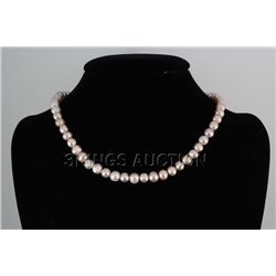 "194.54CTW 18"" LAVENDER FRESHWATER PEARL NECKLACE METAL"