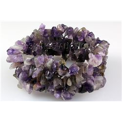 "252.56CTW 8"" AMETHYST CHIPPED STONE BRACELET PHILIPPINE"