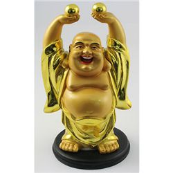 Happy Golden Brass Buddha Symbols for Good Year Life