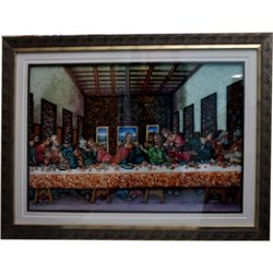 3D Last Supper Gemstone Painting size 33.5in.x43.5in.
