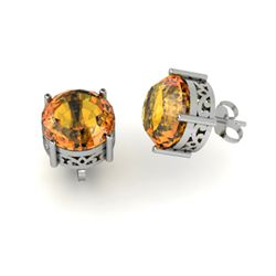 Citrine 3.30ctw Earring 14kt White Gold