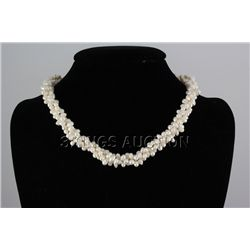"329.1CTW 18"" WHITE RICE PEARL NECKLACE METAL LOCK PHILI"