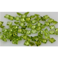 10.08 ctw Princess Cut Peridot Natural Gemstone, 6x6mm