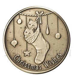 Christmas 2009 Bronze Round X-12 Christmas Wishes (with