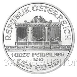 One Ounce Austrian Philharmonic Silver 2010