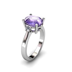 Tanzanite 3.50 ctw Diamond Ring 14kt White Gold