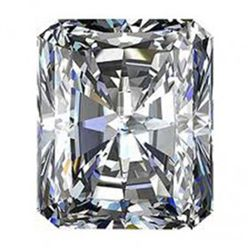 GIA 0.71 ctw Certified Radiant Brilliant Diamond F,VVS2