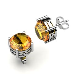 Citrine 1.80ctw Earring 14kt White Gold