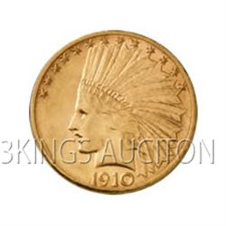 $10 Indian Extra Fine Early Gold Bullion