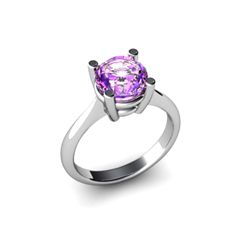 Amethyst 1.30ctw Ring 14kt White Gold