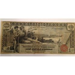 RARE 1896 $1 US Educational Note Silver Certificate, F