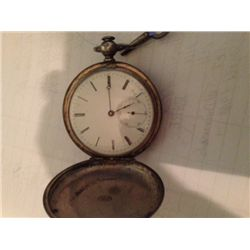 F H Mathez,Tramelan Antique (Swiss) Pocket Watch,Engraved Fine Silver, Fully Jewelled, Key Wound