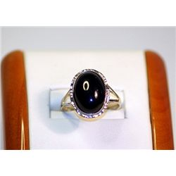 Unisex Antique  Style 10 kt Yellow Golg Black Onyx Ring